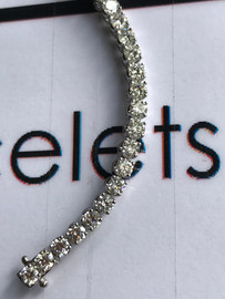 "00075 18k White Gold Diamond Bracelet 7.6"" or 19.37 cm. Bespoke Length"