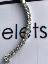 """75 18k White Gold Diamond Bracelet 7.6"""" or 19.37 cm. Bespoke Length"""