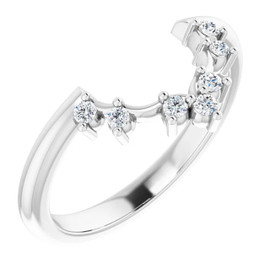 2-B Platinum Diamond GuyDesign Wedding Ring