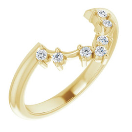4-B 18k Yellow Gold Diamond GuyDesign Wedding Ring
