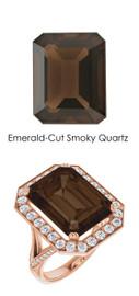 #238 18K Natural H&A 64 Super Ideal Cut Diamond 11.4 ct. Quartz Custom Jewelry