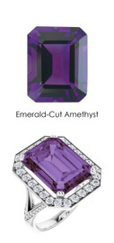 0000242 Platinum Hearts & Arrows 64 Diamond Amethyst Custom Jewelry