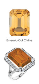 0000245 Platinum Hearts & Arrows 64 Diamond Citrine Custom Jewelry