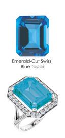 #248 Platinum Natural Hearts & Arrows 64 Super Ideal Cut Diamond Swiss Blue Topaz Custom Jewelry