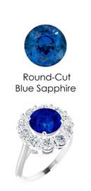 #36802 Platinum Max Sparkle Natural H & A Super Ideal Cut Diamonds 2.7ct Sapp. Diana Ring