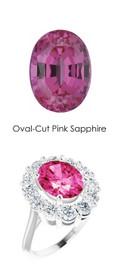 #3650201 Platinum Max Sparkle Natural H & A Super Ideal Cut Diamonds 3.8ct Sapp. Diana Ring