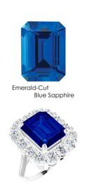 #36704 Platinum Max Sparkle Natural H & A Super Ideal Cut Diamonds 8.3ct Sapp. Diana Ring