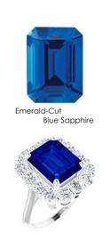 #36703 Platinum Max Sparkle Natural H & A Super Ideal Cut Diamonds 6.4ct Sapp. Diana Ring