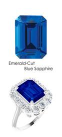 #36702 Platinum Max Sparkle Natural H & A - Super Ideal Cut Diamonds 4.5ct Sapp. Diana Ring