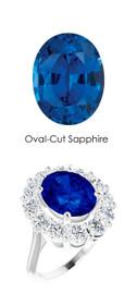 000036503 Platinum Diamond 4.85 ct. Sapphire Bespoke Ring
