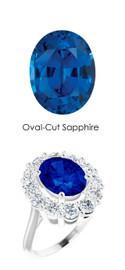 000036502 Platinum Diamond 3.85 ct. Sapphire Bespoke Ring