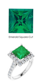 0000355 Plat Hearts & Arrows 28 Diamonds 2.2 Ct. Emerald Bespoke Ring