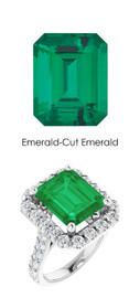 #356 Platinum Natural Hearts & Arrows 28 Super Ideal Cut Diamonds 5.6 Ct. Emerald Bespoke Ring