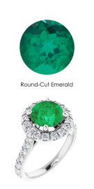 0000357 Plat Hearts & Arrows 28 Diamonds 1.7 ct. Emerald Bespoke Ring