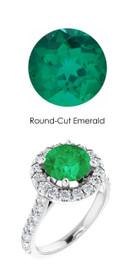 #357 Platinum Natural Hearts & Arrows 28 Super Ideal Cut Diamonds 1.7 ct. Emerald Bespoke Ring