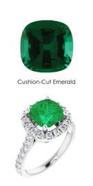 #358 Plati Natural Hearts & Arrows 30 Super Ideal Cut Diamonds 2 ct. Emerald Bespoke Ring