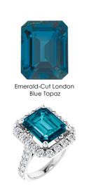 0000340 Platinum Hearts & Arrows 28 Diamonds 7.8 ct. Topaz Bespoke Ring