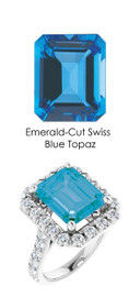 0000343 Platinum Hearts & Arrows 28 Diamonds 7.8 ct. Topaz Bespoke Ring