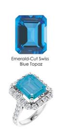 #343 Platinum Natural Hearts & Arrows 28 Super Ideal Cut Diamonds 7.8 ct. Topaz Bespoke Ring