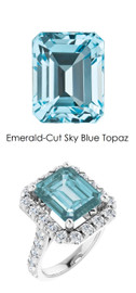 0000346 Platinum Hearts & Arrows 28 Diamonds 7.8 ct. Topaz Bespoke Ring