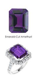 0000349 Platinum Hearts & Arrows 28 Diamonds 5.9 ct. Amethyst Bespoke Ring