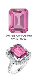 0000344 Platinum Hearts & Arrows 28 Diamonds 8 ct. Topaz Bespoke Ring