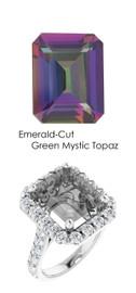 #345 Platinum Natural Hearts & Arrows 28 Super Ideal Cut Diamonds 8 ct. Topaz Bespoke Ring