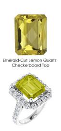 0000347 Platinum Hearts & Arrows 28 Diamonds 5.4 ct. Quartz Bespoke Ring