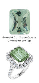 0000348 Platinum Hearts & Arrows 28 Diamonds 5.4 ct. Quartz Bespoke Ring