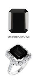 #352 Platinum Natural Hearts & Arrows 28 Super Ideal Cut Diamonds Onyx Bespoke Ring