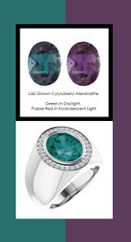 0000809 Platinum H&A 30 Diamonds Oval 6.4 ct. Alexandrite Bespoke Men's Ring