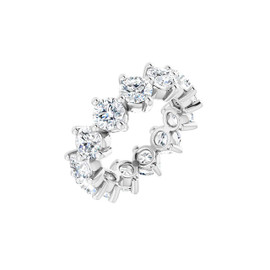 #10641 Size 3, Natural 3.25 CTW H&A Super Ideal Cut Diamond Eternity Ring