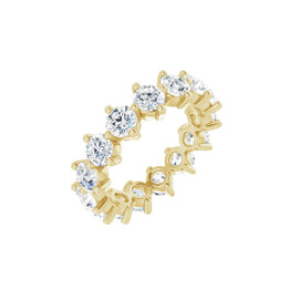 #10643 Size 7, Natural 3.75 CTW H&A Super Ideal Cut Diamond Eternity Ring