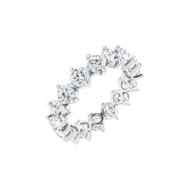 #10644 Size 8.75, Natural 4.00 CTW H&A Super Ideal Cut Diamond Eternity Ring