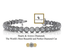 #1AA, Natural Hearts & Arrows Diamond Vintage Circle Bracelet