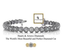 #1AA, Natural Hearts & Arrows Super Ideal Cut Diamond Vintage Circle Bracelet