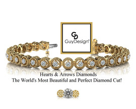 #11AB, Natural Hearts & Arrows Super Ideal Cut Diamond Vintage Circle Bracelet