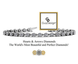 #11BA, Natural Hearts & Arrows 7 Carats Diamond Every Day Bracelet, Each Diamond is 1/4th of a Carat.
