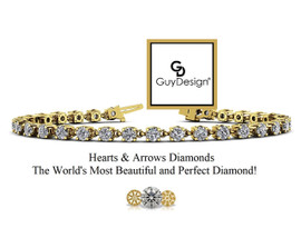 #11BB, Natural Hearts & Arrows 7 carat Super Ideal Cut Diamond, Every Day Bracelet, Each Diamond is 1/4th of a Carat.