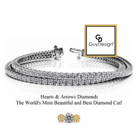 #11CA, Natural Hearts & Arrows Diamond 2 Layered Stack Bracelet