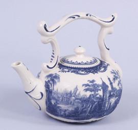 Blue and White Porcelain Transferware Decorative Teapot 7111 AAA