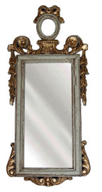 "Classic Elements, 28.5""t x 12""w Rectangular Shape Plate Glass Reproduction Mirror, Custom Finish, 6104"