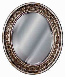 "Classic Elements, 29""t x 24""w Oval Shape Beveled Glass Reproduction Mirror, Custom Finish, 6101"