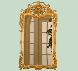 "Classic Elements, 38""t x 21.5""w Rectangular Shape Plate Glass Reproduction Mirror, Custom Finish, 6100"