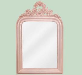 "Classic Elements, 28""t x 18""w Rectangular Shape Beveled Glass Reproduction Mirror, Custom Finish, 6099"