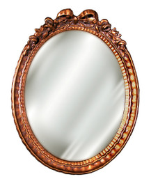 """Classic Elements, 12""""t x 9""""w Oval Shape Plate Glass Reproduction Mirror, Custom Finish, 6098"""