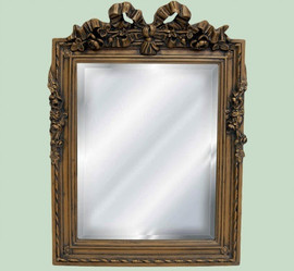 "Classic Elements, 14""t x 10.5""w Square Shape Beveled Glass Reproduction Mirror, Custom Finish, 6097"