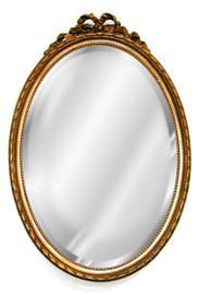"Classic Elements, 27""t x 18""w Oval Shape Beveled Glass Reproduction Mirror, Custom Finish, 6094"
