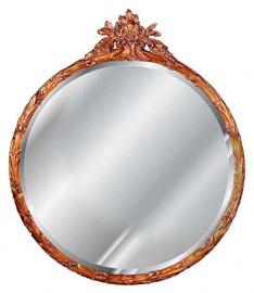 "Classic Elements, 35"" Round Shape Beveled Glass Reproduction Mirror, Custom Finish, 6091"