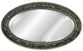 "Classic Elements, 48"" Oval Shape Beveled Glass Reproduction Mirror, Custom Finish, 6090"